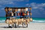 Souvenirs kiosk on Varadero beach, Cuba